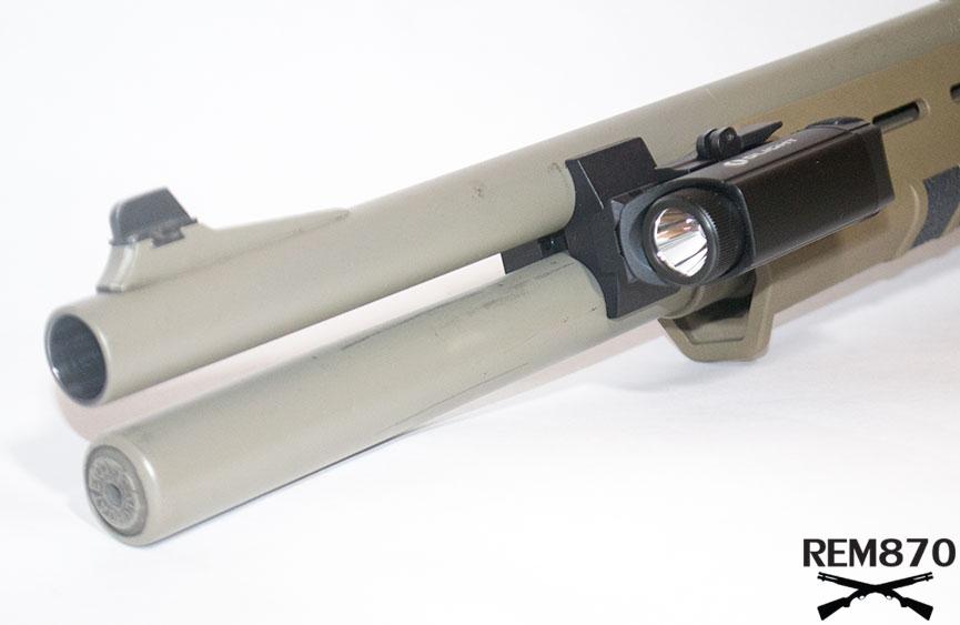 Olight PL-1 II Valkyrie Generation 2 Flashlight on Remington 870 Shotgun