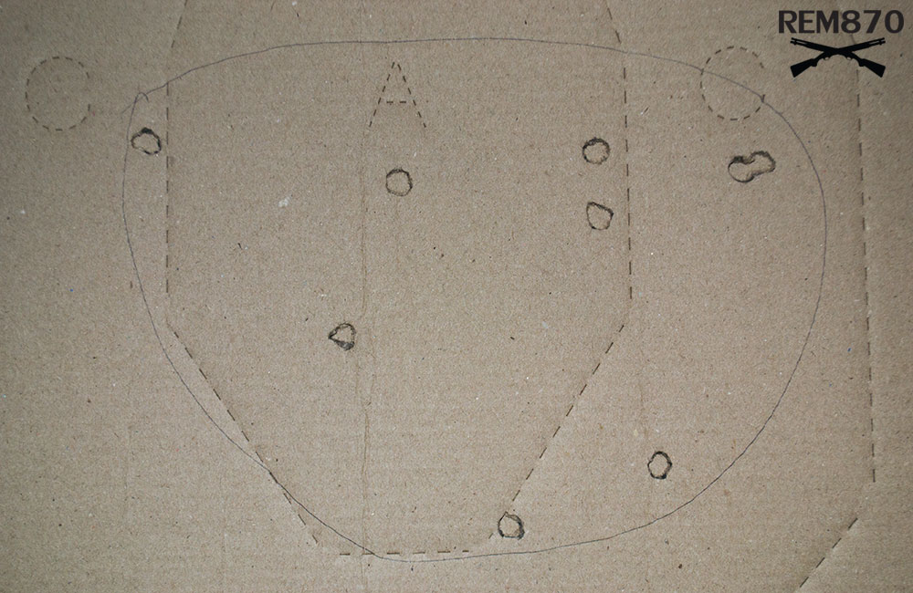9 inches Remington Buckshot Pattern on 15 feet: