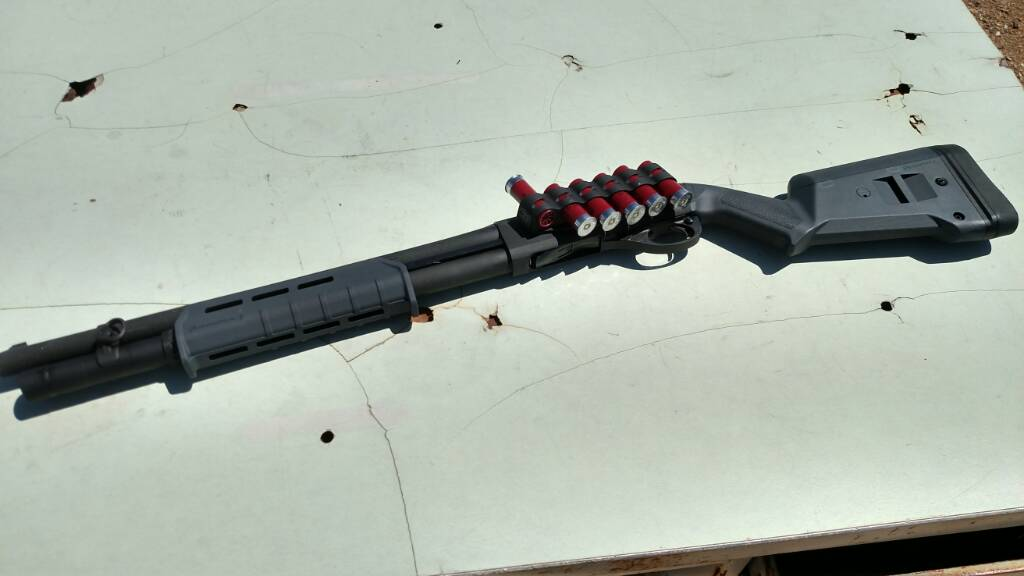 Remington 870 with Grey Magpul Furniture, Home Defense Build