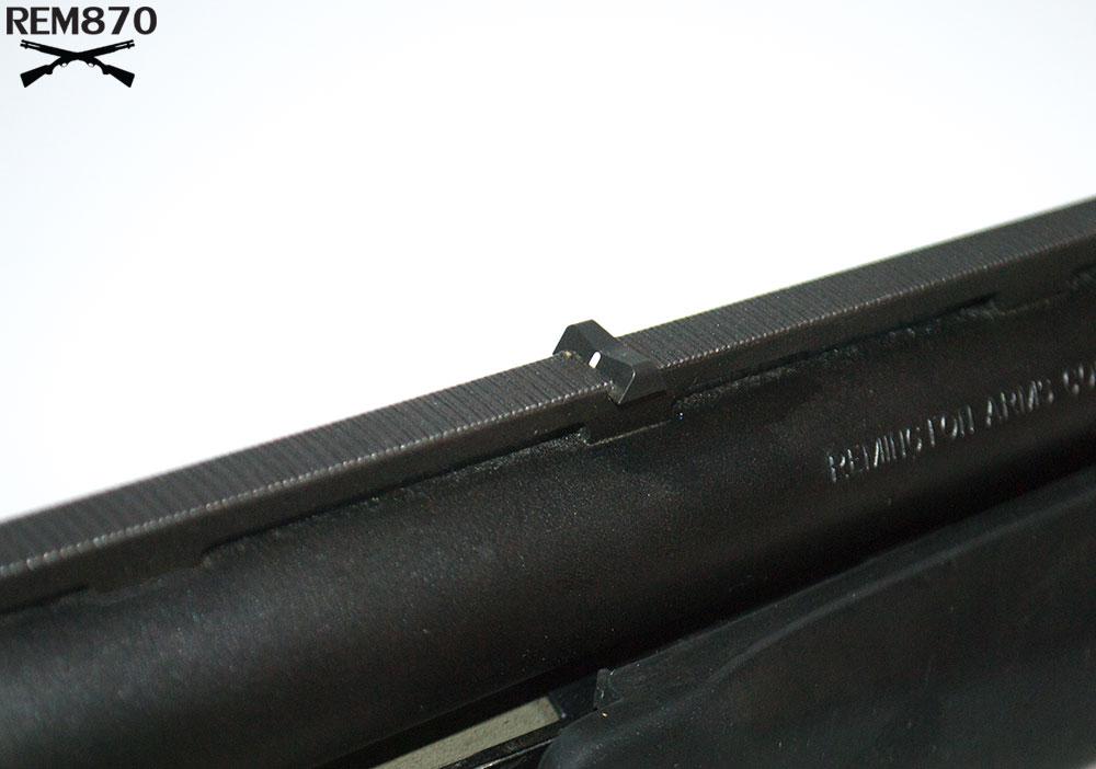 XS Rear Sight Installed on a Remington 870 Vent Rib Barrel
