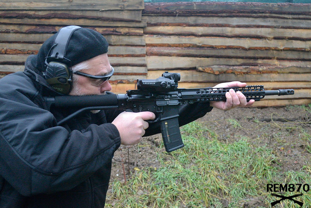 AR-15 Rifle with Leupold D-Evo Optics