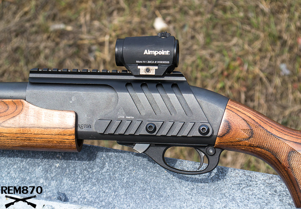 Remington 870 with Wood Furniture and Aimpoint Red Dot Sight