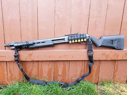 Remington 870 Tactical with Magpul Furniture, Mesa Tactical Sidesaddle