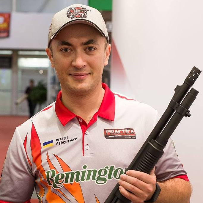 Vitaly Pedchenko with Remington 870 Tactical