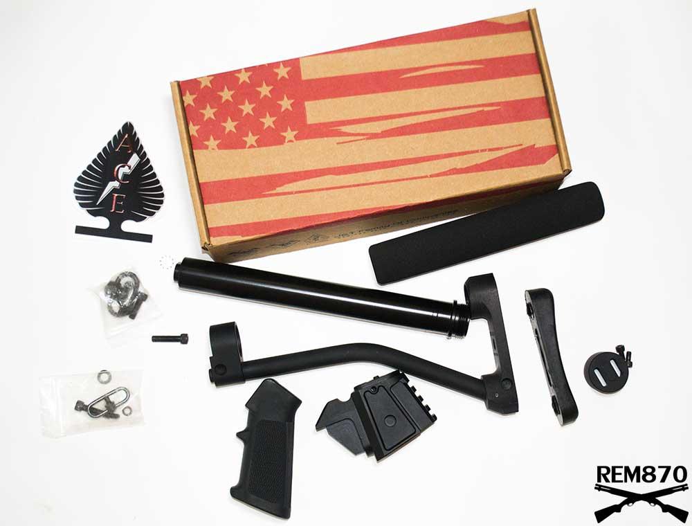 Double Star ACE Remington 870/Mossberg 500/590 Receiver Block to install AR-15 ARFX Skeleton Stock