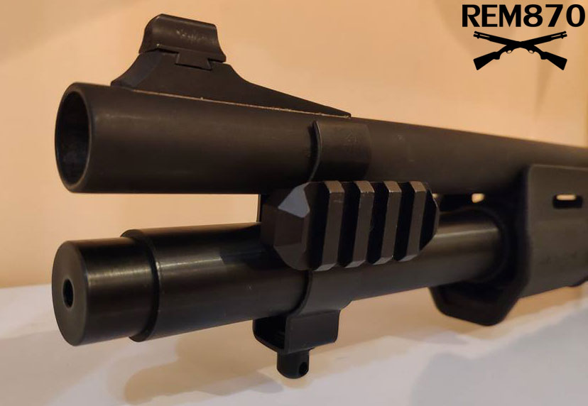 GrovTec Extended Magazine Tube Mount/Clamp for Remington 870