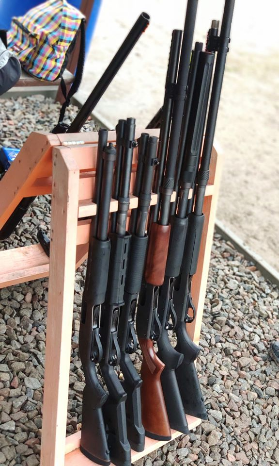 Remington 870 was the most popular shotgun of the course