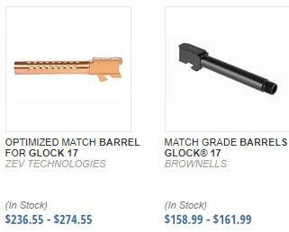 Glock Custom Barrels