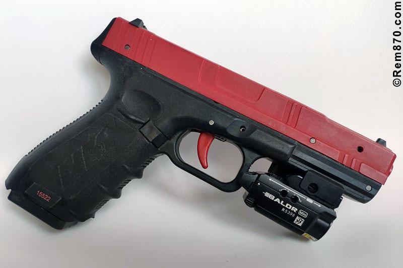 Olight Baldr Min on Handgun