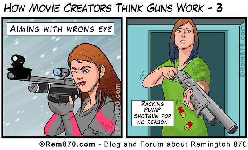 How Movie Creators Think Guns Work