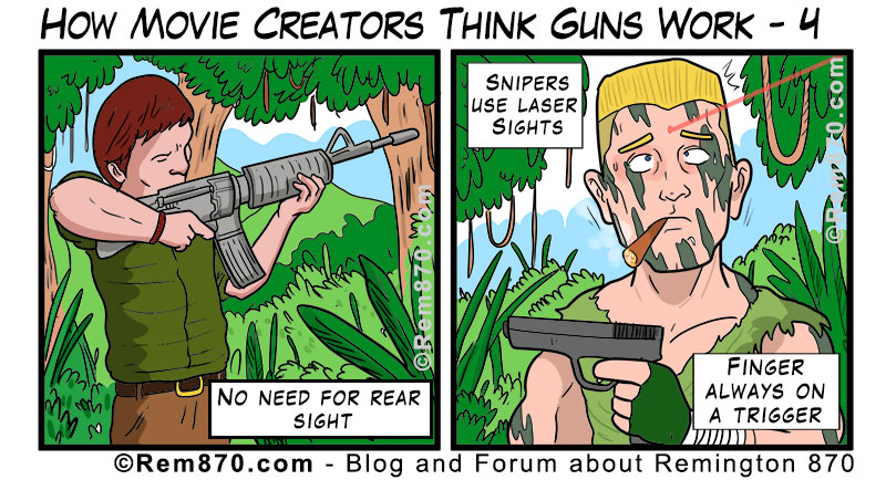 How Movie Creators Think Guns Work - 4 (Comic)