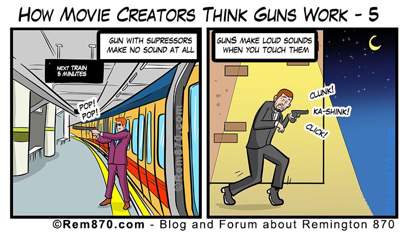 How Movie Creators Think Guns Work - 5 (Comic)